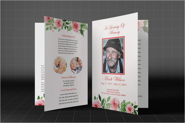 High Quality Funeral Brochure Design