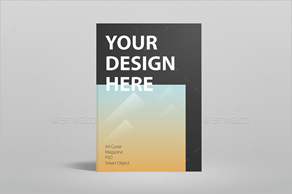 High Quality Magazine Cover Mockup