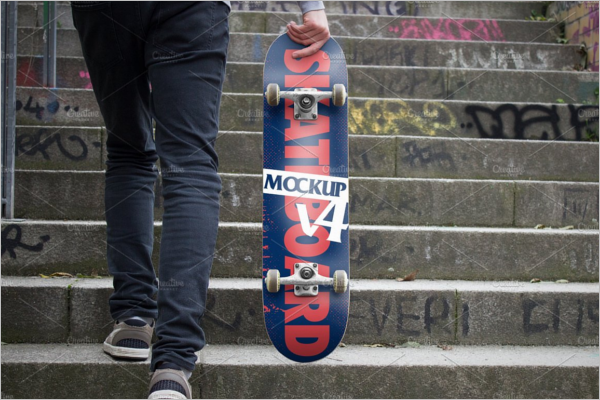 High Quality Skateboard Mockup