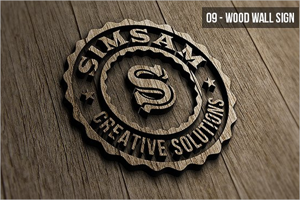 High Quality Wood Logo Mockup