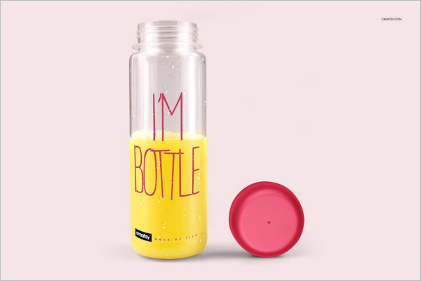 High Qulity Bottle Mockup Design