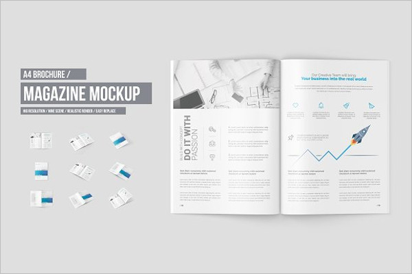 High Resolutation Brochure Mockup