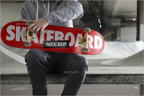 High Resolutation Skateboard Mockup
