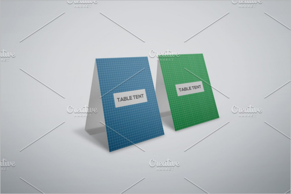 High Resolutation Table Tent Card Mockup