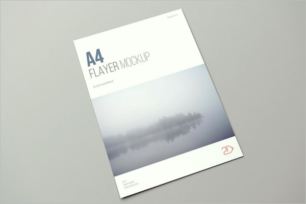 High Resolution A4 Flyer Mockup Design