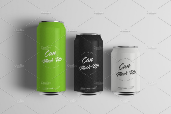 High Resolution Can Mockup Design