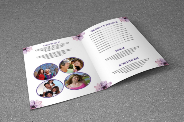 High Resolution Funeral Brochure Design