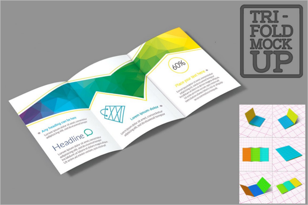 Horizontal A5 Brochure Mockup Design