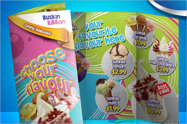 Ice Cream Brochure Template