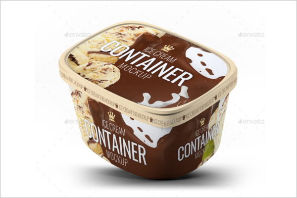 Ice Cream Bucket Mockup DesignIce Cream Bucket Mockup Design