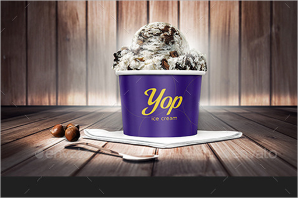 Ice Cream Cup Mockup Bundle