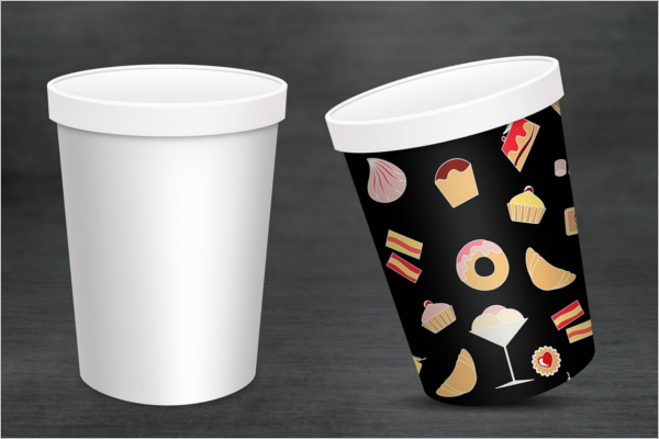 Ice Cream Cup Mockup Template