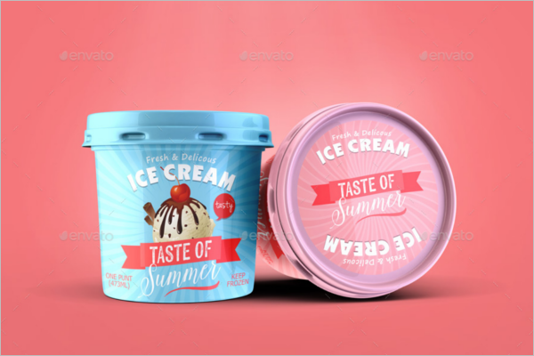Ice Cream Packaging Mockup