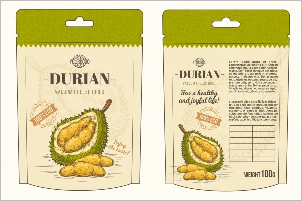 Illustration Food Packaging Mockuo
