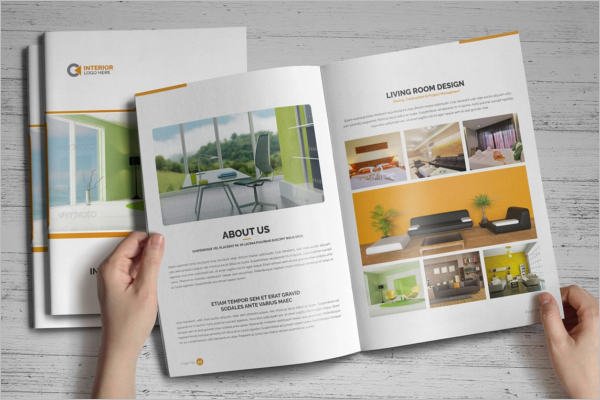 Interior Design Brochure Vector