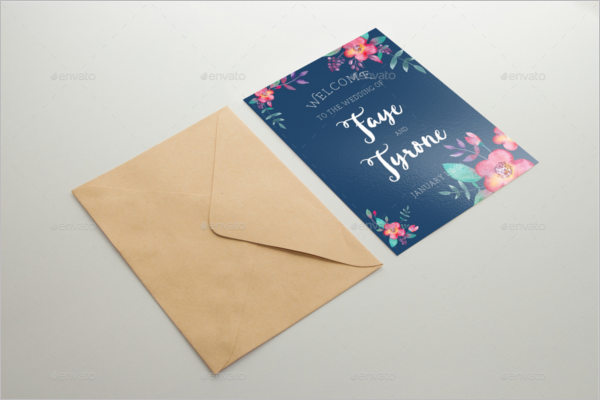 Invitation Card Mockup Design