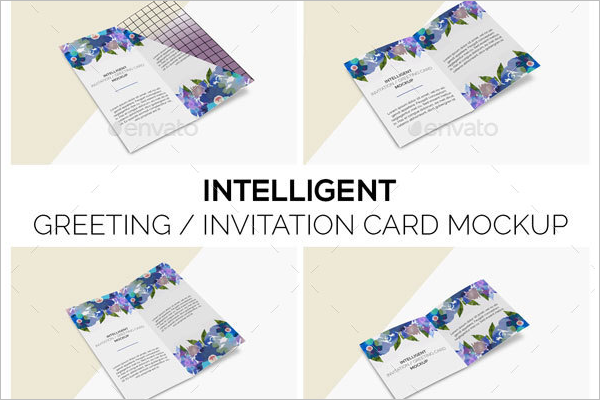 Invitation Card Mockup  Modsel