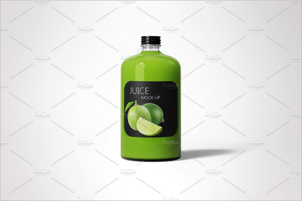 Juice Packing Bottle Mockup