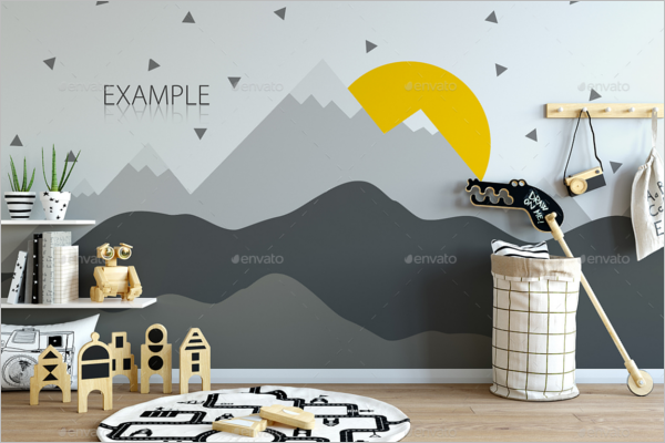 Kids Wall Art Mockup Design