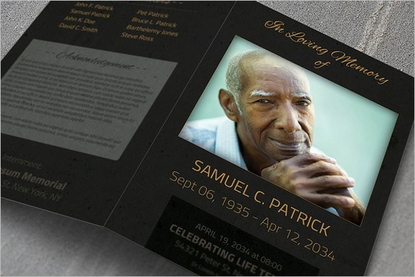 Latest Funeral Brochure Template