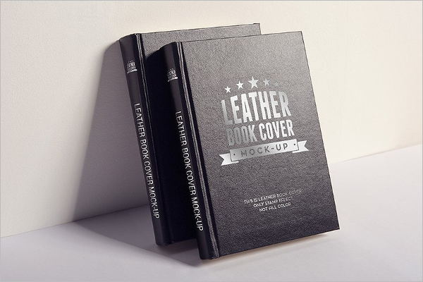 Leather Book Cover Mockup Design