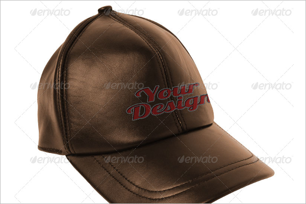 Leather Hat Mockup PSD