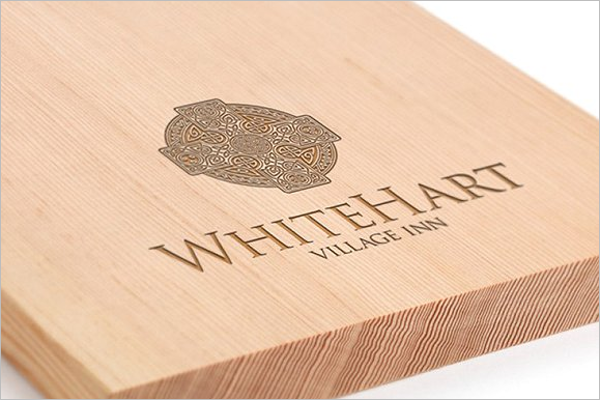 Logo Mockup Wood Design