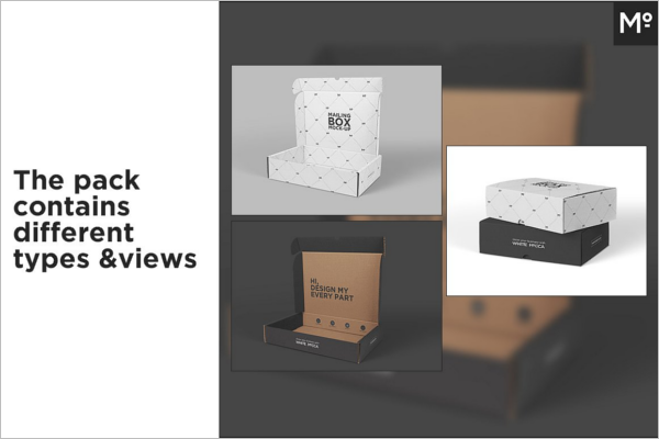 Mailing Gift Box Mock-up