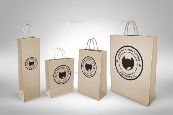 Marketing Paper Bag Mockup Template