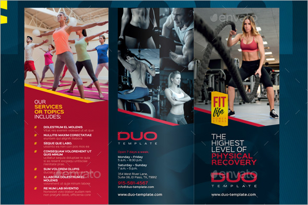 Medical GYM Brochure Template