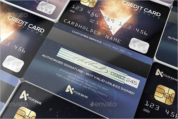 Membership Credit Card Mockup