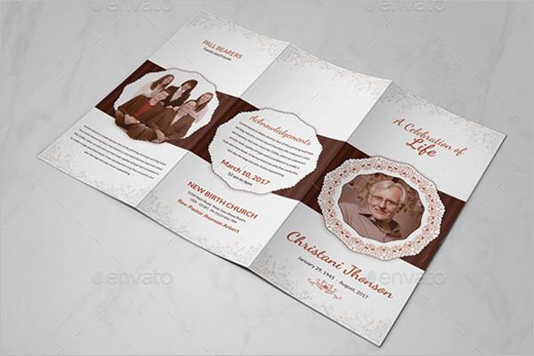 Memorial Program Brochure Design