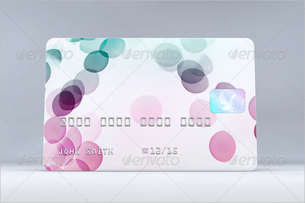 Metalic Credit Card Mockup