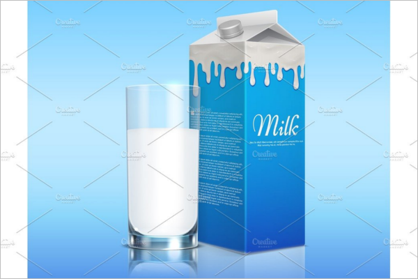 Milk Packaging Mockup Design