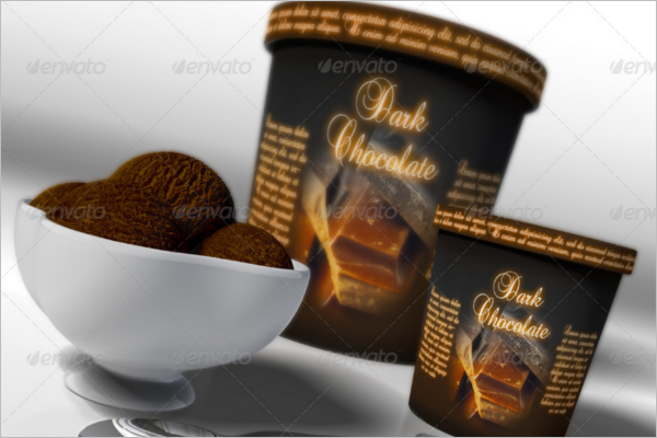 Minimal Ice Cream Cup Mockup Design