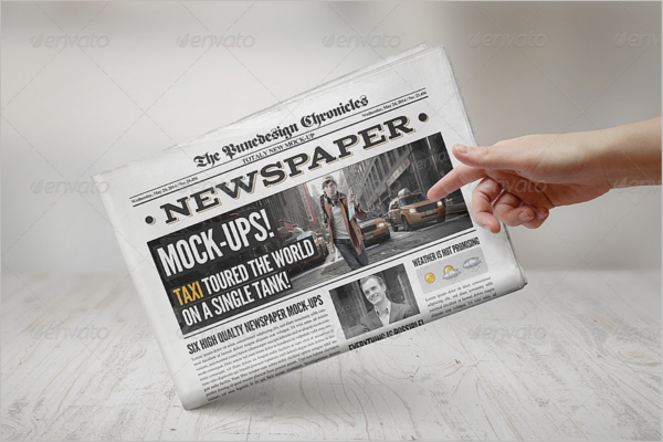 Minimal Newspaper Mock up