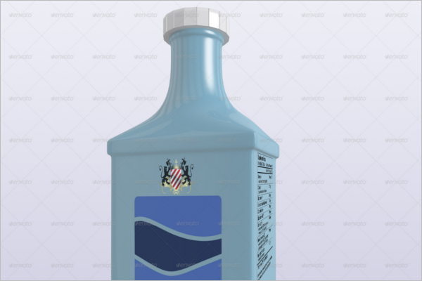 Miscellaneous Plastic Bottle Mockup