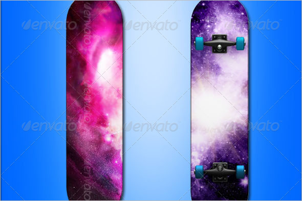 Miscellaneous Skateboard Mockup