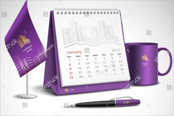 Mockup For Desk Calendar Design