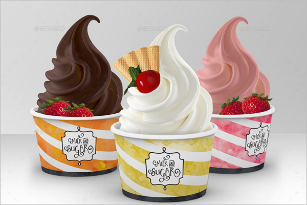 Mockup Ice Cream Cup Template