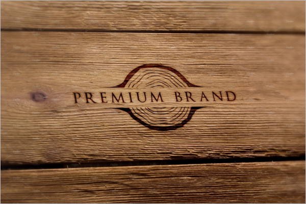 Mockup Wood Logo Design