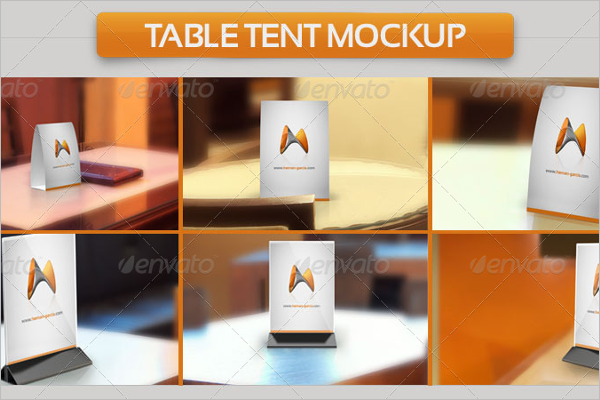Modern Table Tent Card Mockup