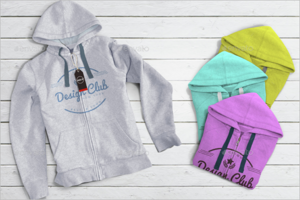 Multi Color Hoodie Mockup Design