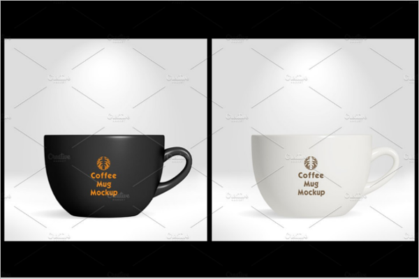 Multicolor Coffee Cup Mockup