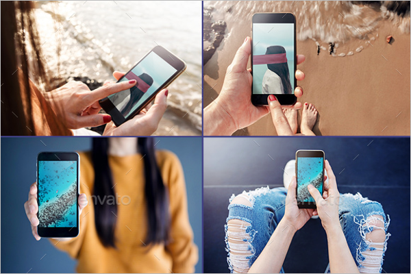 Multiple iPhone Mockup