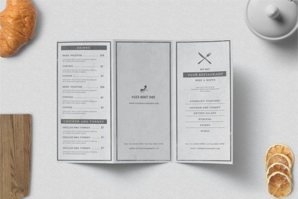Multipurpose Restaurant Brochure