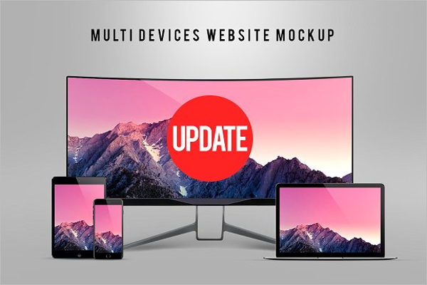 Multipurpose Website Mockup
