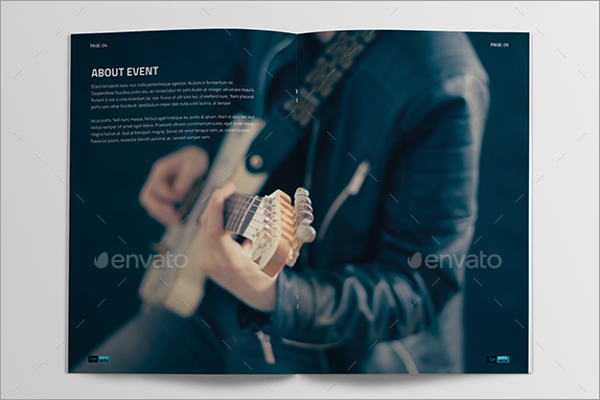 Music Event Brochure Template