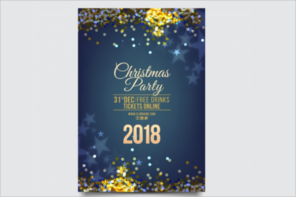 New Year Celebrations Brochure Template Free