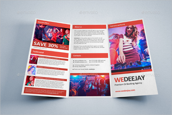 New Year Party Brochure Template
